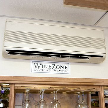 WineZone Ductless Split 6800 Series Cooling System