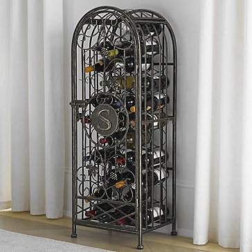 42-Bottle Antiqued Grapevine Wine Jail