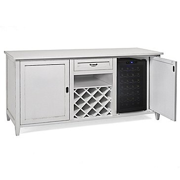 Firenze Wine And Spirits Credenza With 28 Bottle Touchscreen Refrigerator Antique White