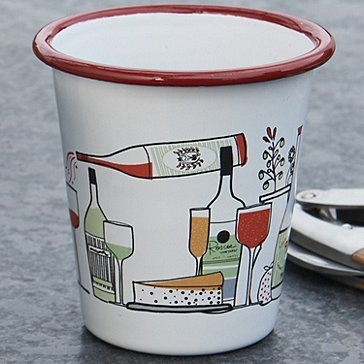 Marissa Ross Limited Edition Enameled Wine Tumblers (Red)