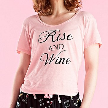 Women's 'Rise And Wine' T-Shirt