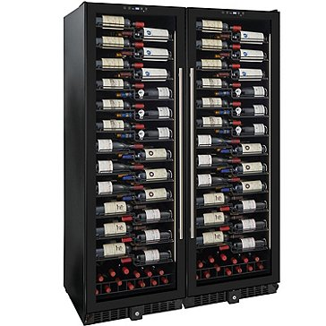 Wine Enthusiast VinoView 310-Bottle Double Wine Cellar