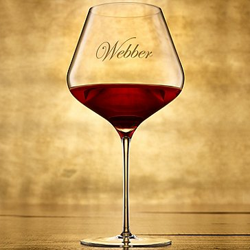 Personalized ZENOLOGY Pinot Noir Wine Glasses