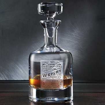 Personalized Etched Family Reserve Decanter
