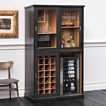 Umbria Italian-Handcrafted Wine Storage Armoire with Wine Cooler
