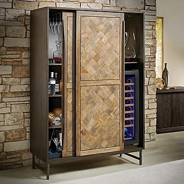 Catalonia Wine Storage Armoire with Wine Cooler