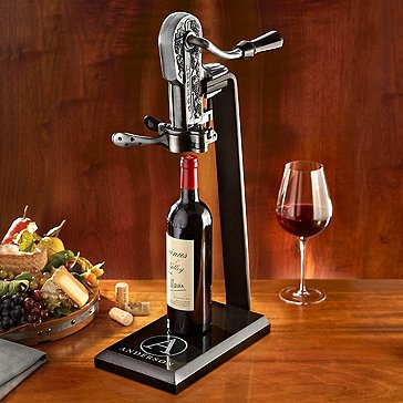 Legacy Corkscrew with Black Marble Stand and Handle (Pewter)