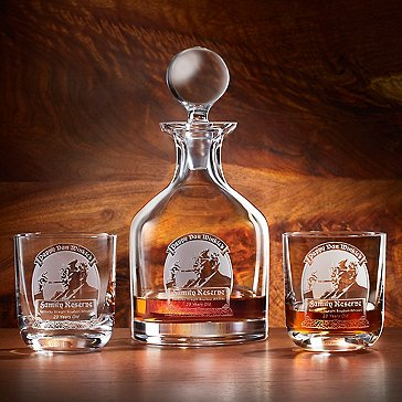 Pappy Van Winkle's Family Reserve 23 Year Decanter and Glasses 3-Piece Set