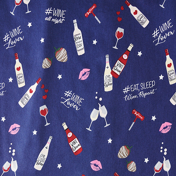 """Eat, Sleep, Wine, Repeat"" Nightshirt"