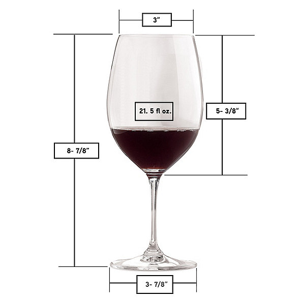 Personalized Riedel Vinum Cabernet Wine Glasses (Block) (Set of 2)