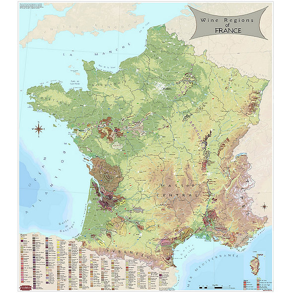 Map Of France Detailed.Wine Map Of France
