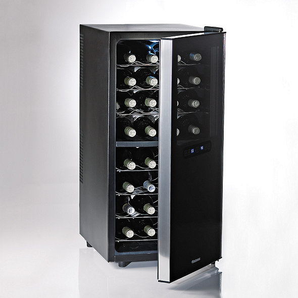 Wine Enthusiast Silent 32 Bottle Dual Zone Touchscreen Wine Refrigerator