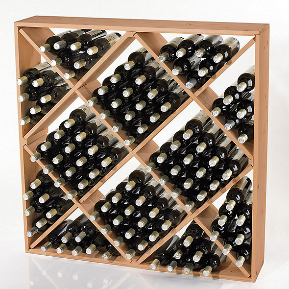 Jumbo Bin 120 Bottle Wine Rack Natural