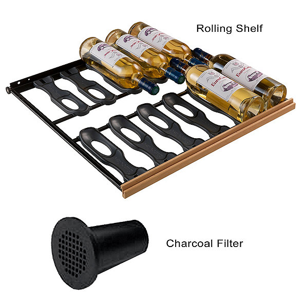 EuroCave Standard Pack - 6 Main du Sommelier Rolling Shelves & Charcoal Filter