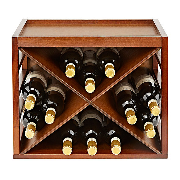 Cube Stack X Style Wine Rack Walnut Wine Enthusiast