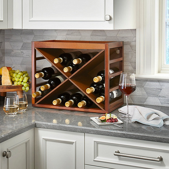 Happy Waiter Holding Tray /& Large Pail wine bottle holder Kitchen Display Stand