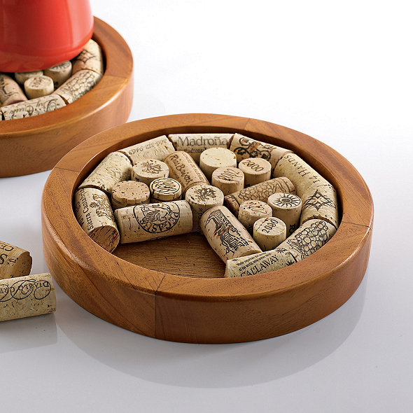 Round Wine Cork Trivet Kit