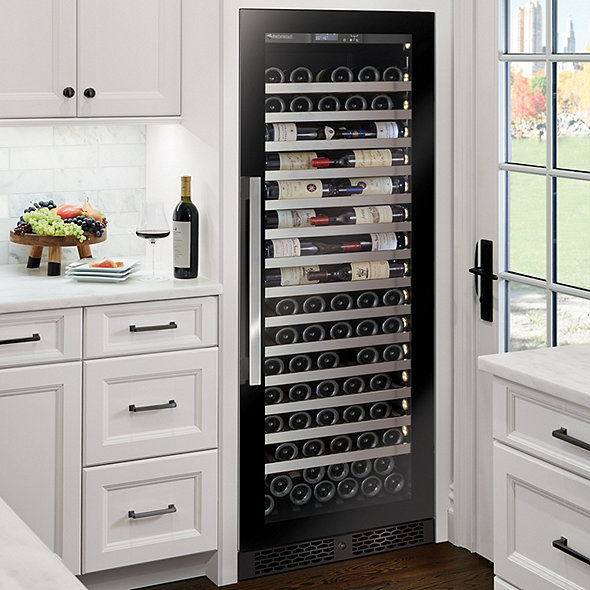Vinotheque Café Single Zone Wine Cellar with Steady-Temp™ Cooling (Edge-To-Edge Glass Door)