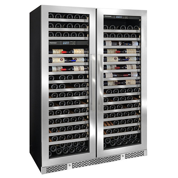 Vinotheque Double Café Single Zone + Dual Zone MAX Wine Cellar (Stainless Steel Door)