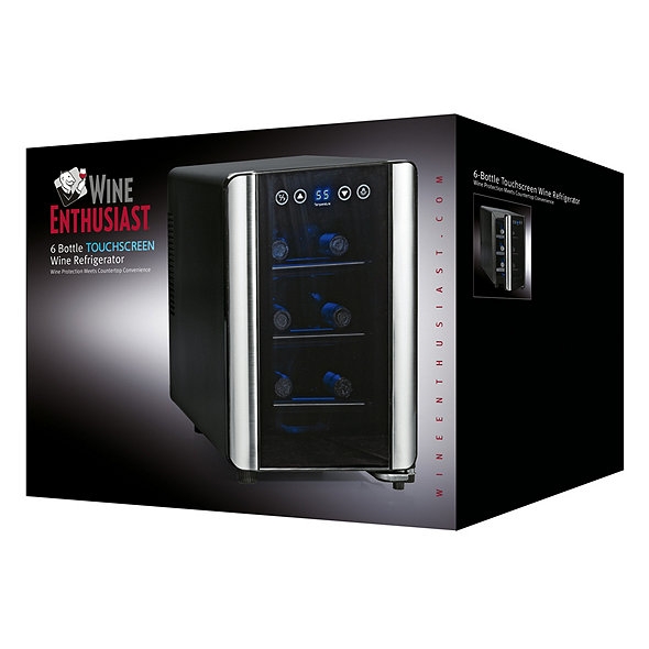 Wine Enthusiast Silent 6 Bottle Touchscreen Wine Refrigerator