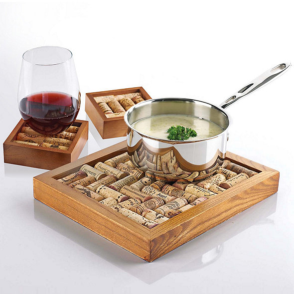 Wine Cork Coasters and Wine Cork Trivet Kit