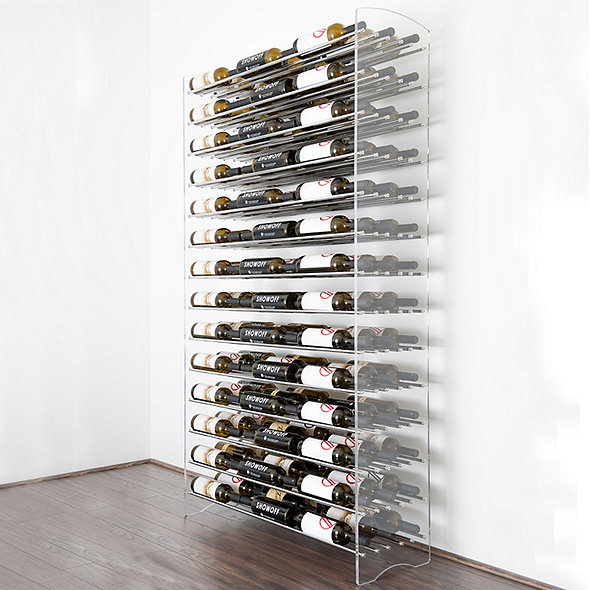 Chrome Wine Rack Capacity 6 Bottle
