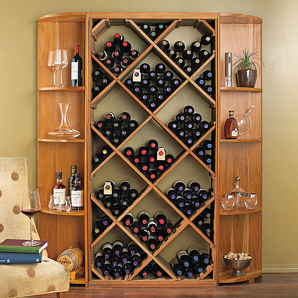 N Finity Diy Diamond Bin Dual Quarter Round Shelf Wine Rack Set