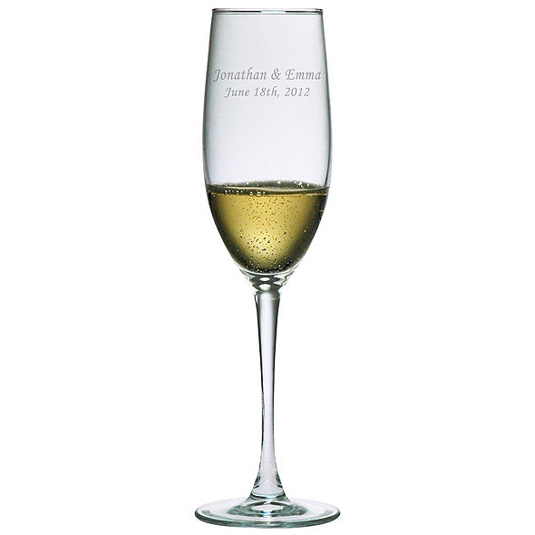 Personalized 8 oz Connoisseur Champagne Flutes (Set of 2) First Name & Date