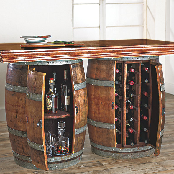 Reclaimed Wine Barrel Bar/Island Set