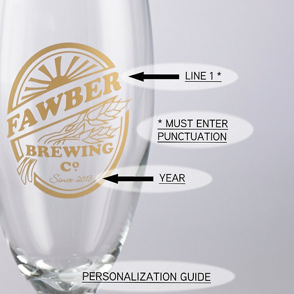 Personalized Brewing Co Pilsner Glasses (Set of 4)
