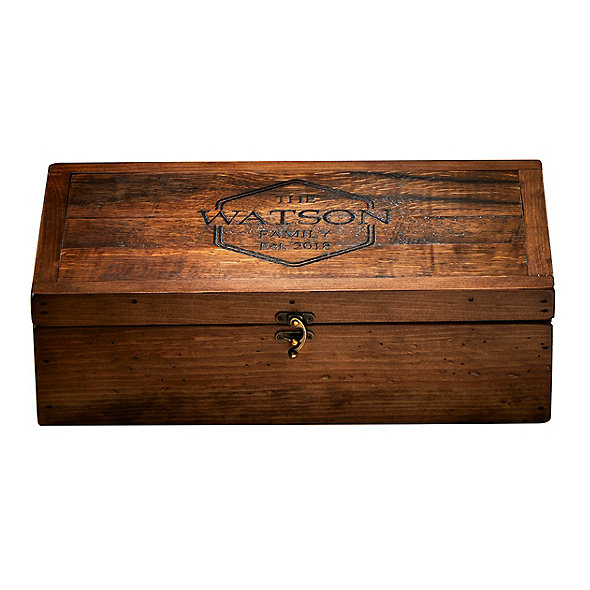 Personalized Bourbon Barrel Toasting Box