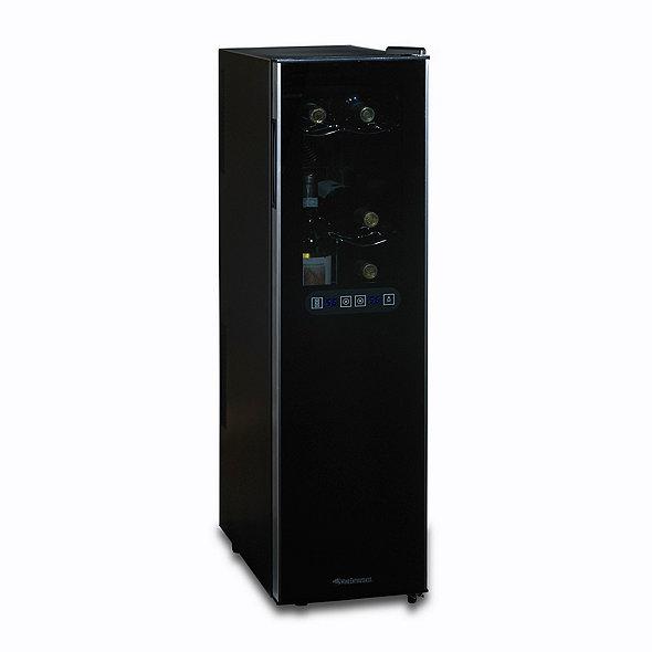 Wine Enthusiast Silent 18 Bottle Dual Zone Wine Refrigerator Slimline with  Upright Bottle Storage