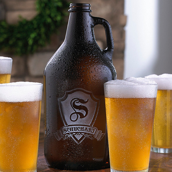 Personalized Shield Beer Growler
