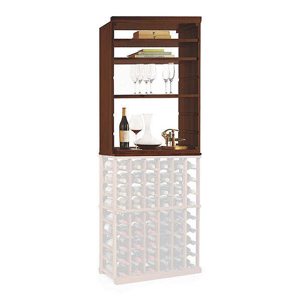 N'FINITY Wine Rack Kit - Hutch with Shelves (Dark Walnut Finish)