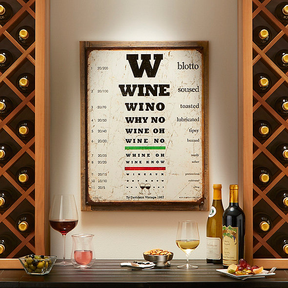 Personalized Wine Eye Chart Sign