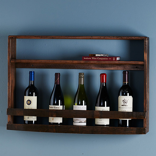 Reclaimed Barrel Stave Wine and Spirits Wall Rack