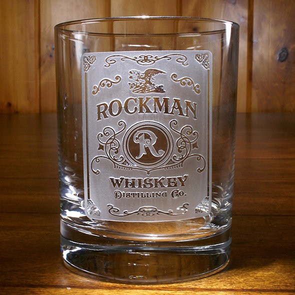 Personalized Etched Whiskey Label Glasses Set Of 4