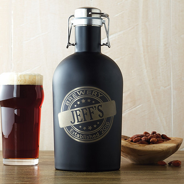 Personalized Black Growler