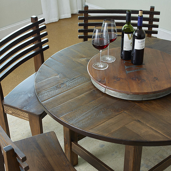 Parquet Table Dining Set With 5 Seats