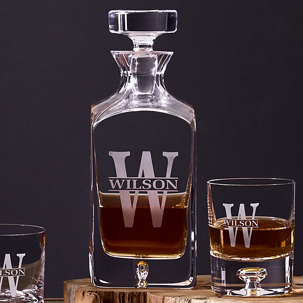 035e03ba6e7e Personalized Lexington Whiskey Decanter and Glasses Set