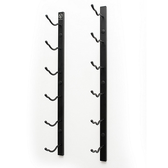 Satin Black 9 Bottle Wall Mounted Wine Rack Stylish Modern Wine Storage with Label Forward Design VintageView Wall Series