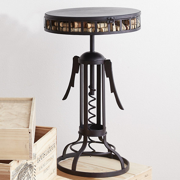 Winged Corkscrew Cork Catcher Accent Table