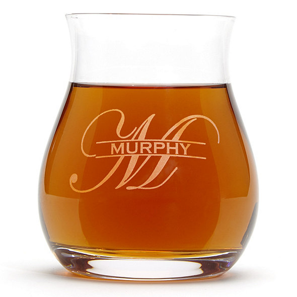 Personalized Glencairn Wide-Bowl Whisky Glasses (Set of 4)