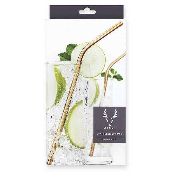 Gold Cocktail Straws (Set of 4)