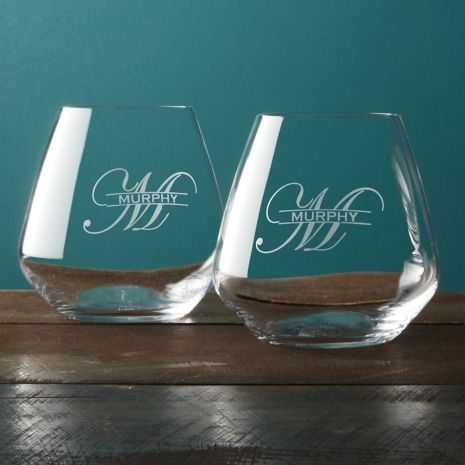 Personalized Wine Tumblers Set Of 2