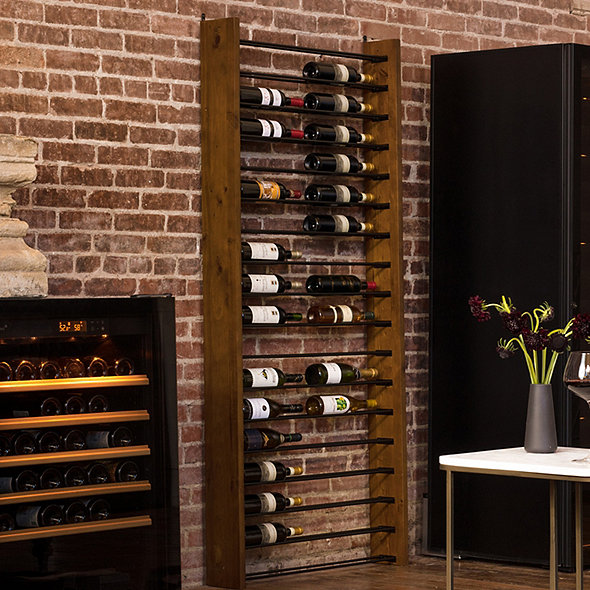 Corsica Vertical Wood and Metal Wine Rack