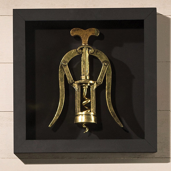 Corkscrew Wall Decor - Winged Corkscrew