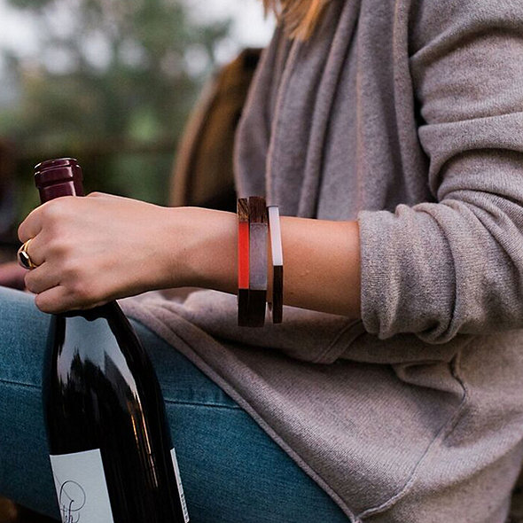 Wine Barrel Bracelet Gift Set