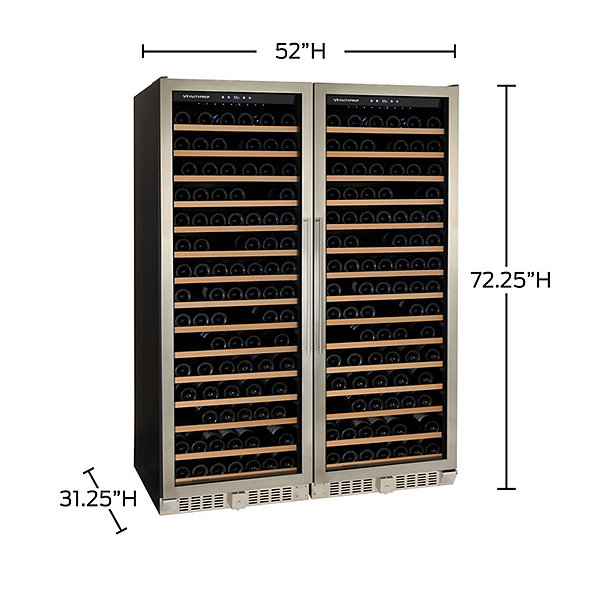 N'FINITY PRO2 Double LXi RED Wine Cellar (Stainless Steel)