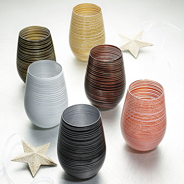 Metallic Spiral Tumblers (Set of 6)